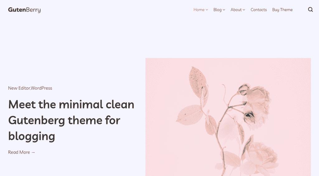 screenshot-of-gutenberry-homepage