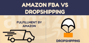a photo showing amazon vs dropshipping