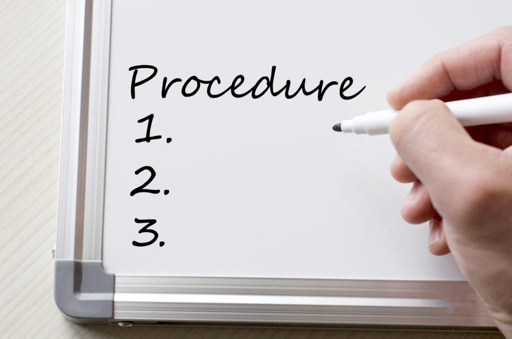 procedures-sign