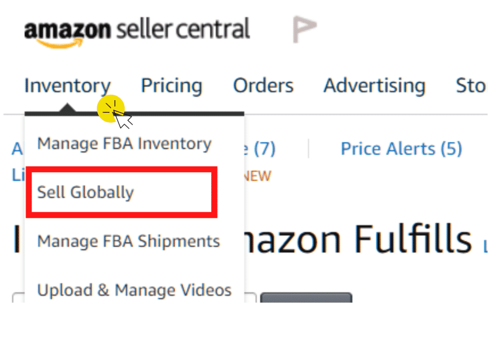 amazon global tab