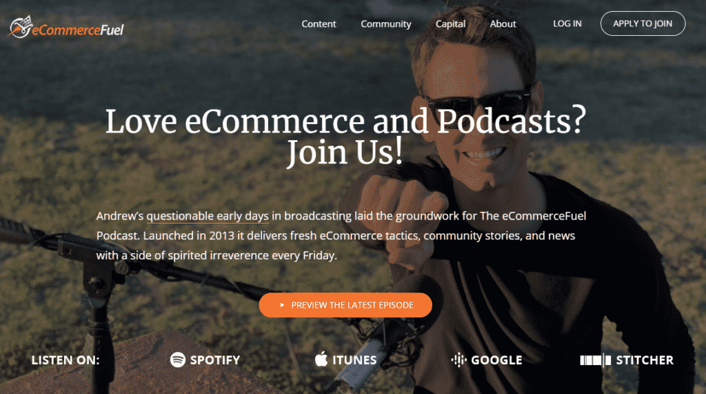 image of amazon podcast page