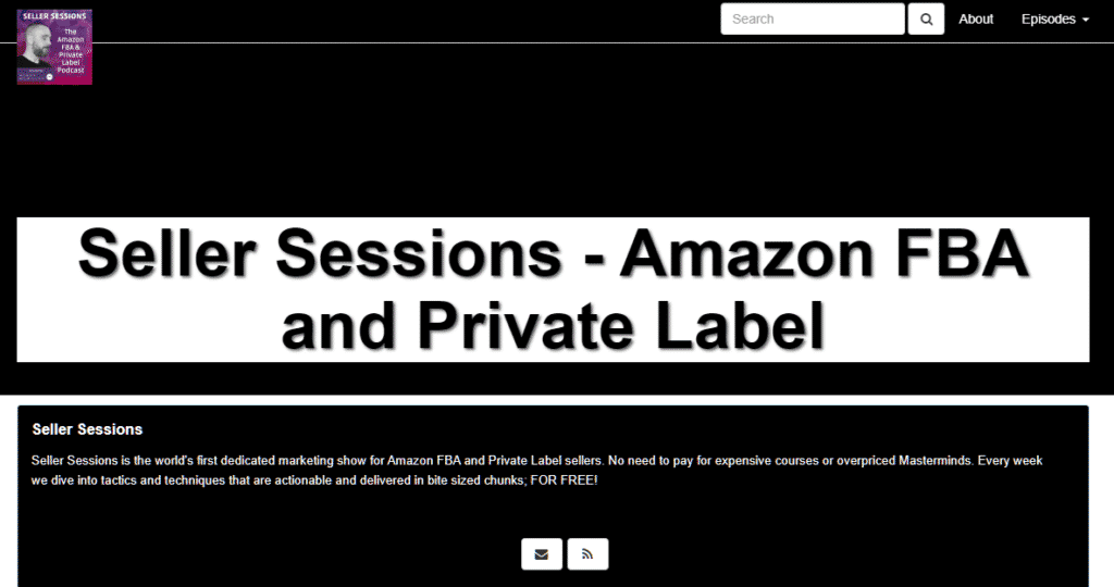 photo of amazon podcast homepage