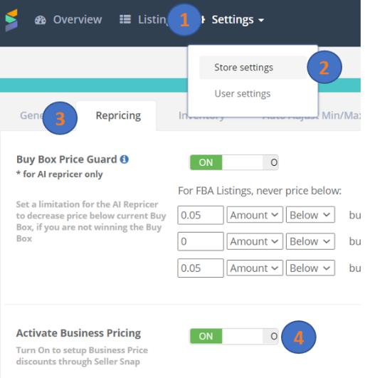 amazon-repricer-interface