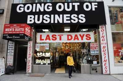 photo of a store closing for good