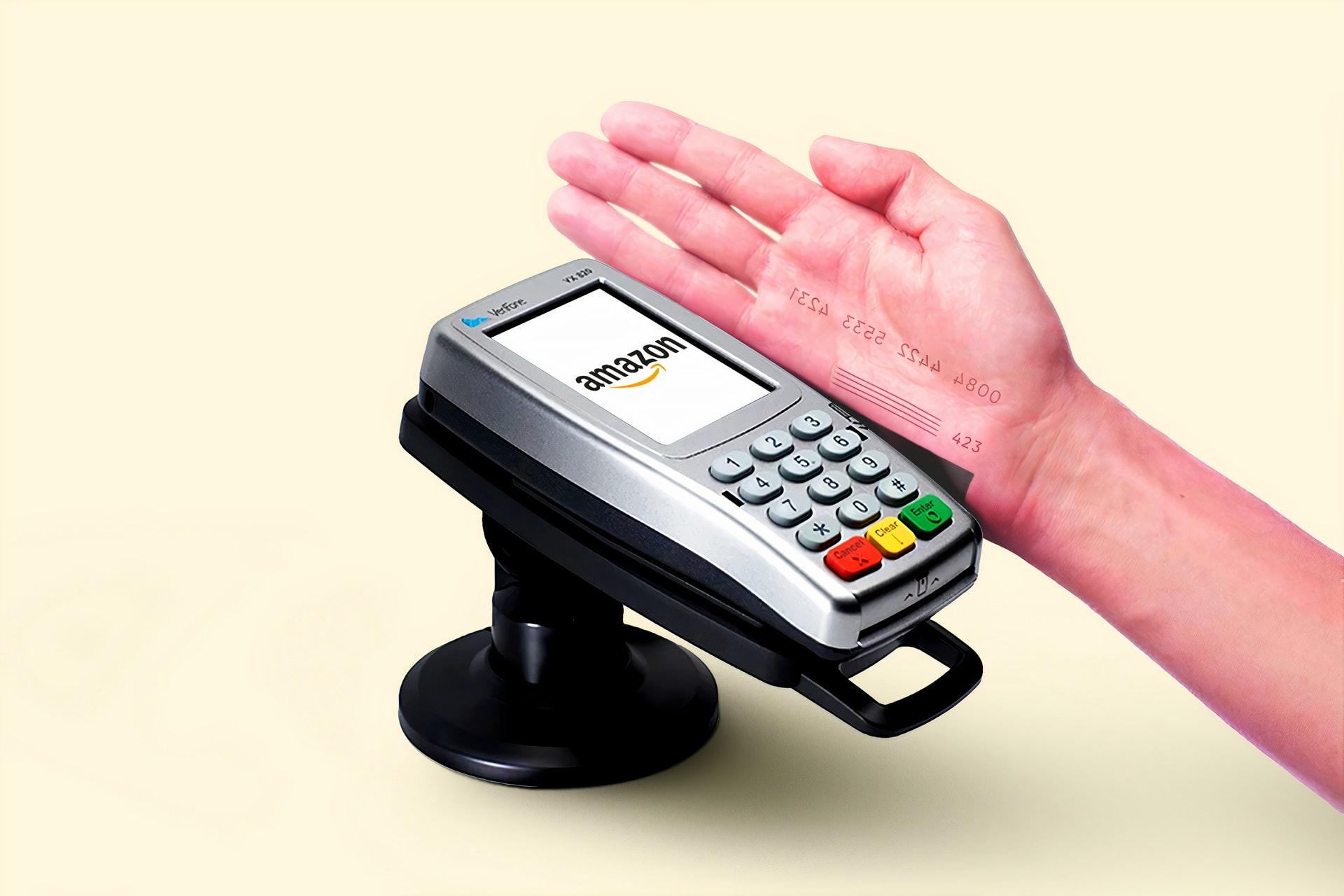 amazon logo on credit card scanner