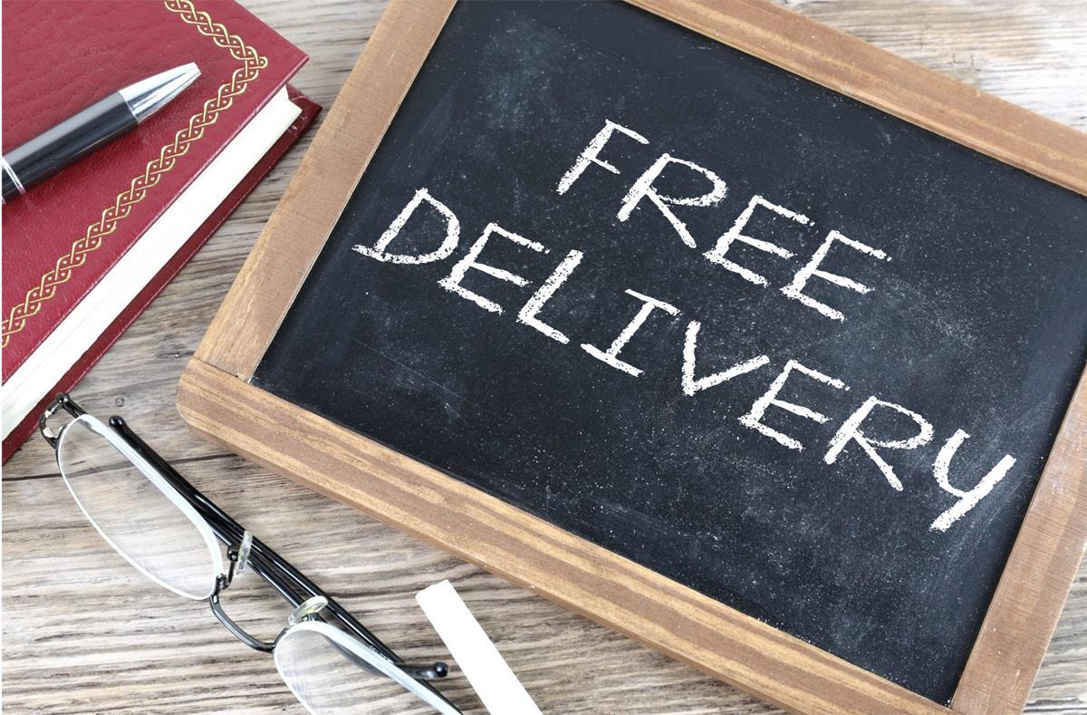 free-delivery-written-on-board